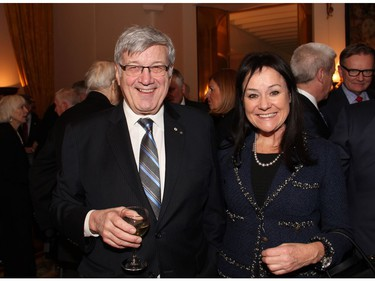 Supreme Court Justice Suzanne Côté and her husband, Gérald Tremblay, a law partner at McCarthy Tétrault, were at the Embassy of France on Tuesday, December 6, 2016, for former prime minister Brian Mulroney's induction into the French Legion of Honour.