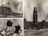 Cold War illustrations prepared by the Canadian Emergency Measures Organization depicting Ottawa after a nuclear explosion.