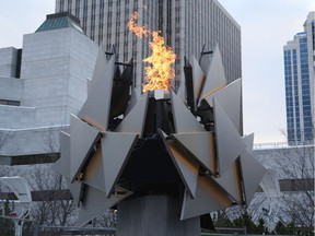 The Ottawa 2017 cauldron was lit outside city hall on New Year's Eve.