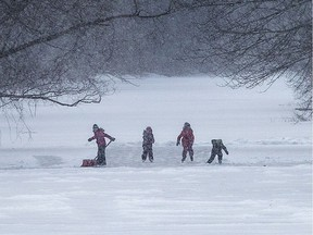 Outdoor skating is the classic winter activity for children in Canada – regardless of where they came from.