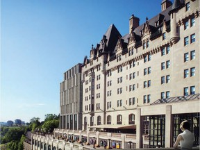 The city has launched a special website to collect public feedback on proposed changes to the iconic Château Laurier Hotel. Some of the changes are shown on the left at the rear.