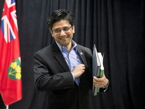 Yasir Naqvi, MPP for Ottawa Centre and Attorney General of Ontario, departs a press conference at the Hintonburg Community Centre in Ottawa where he responded to the recommendations in the independent review of Ontario's police oversight system.