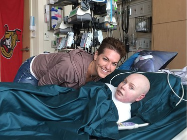 Photo of Jonathan Pitre and his mother, Tina Boileau, taken in Minnesota.