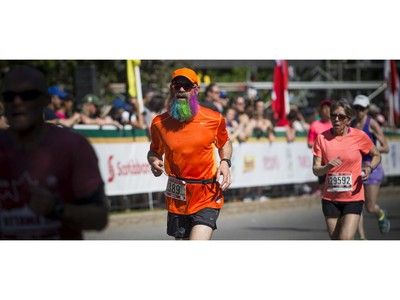 Roger Coles was rocking a colourful beard during the 5k race.