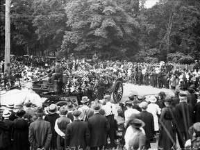 The funeral procession on May 31, 1921 for Ottawa fire chief John William Graham.