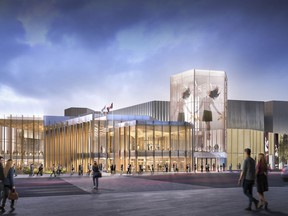 The new glass entrance to the National Arts Centre will be called the Kipnes Lantern in honour of patron Dianne Kipnes and her husband who donated $5 million to the NAC renovation project.