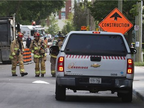 Ottawa Police and Ottawa Fire Services responding to a gas leak on Gilmour Street in Ottawa Ontario Thursday June 22, 2017. The leak was at a construction site.