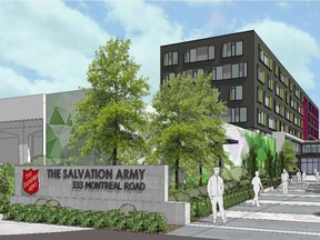 The Salvation Army has filed an application at Ottawa City Hall to build a new emergency shelter and social services centre at 333 Montreal Rd. in Vanier.