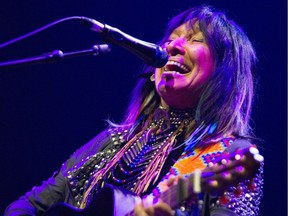 Buffy Sainte Marie performs at the National Arts Centre in Ottawa Monday, July 3, 2017.