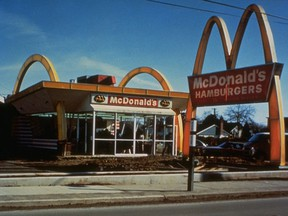 Exterior of the first Canadian McDonald's restaurant in Richmond, B.C.