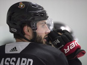 Senators centre Derick Brassard played no pre-season games while still recovering from shoulder surgery in June, but hopes to play the regular-season opener on Thursday at home against the Capitals. THE CANADIAN PRESS/Adrian Wyld
