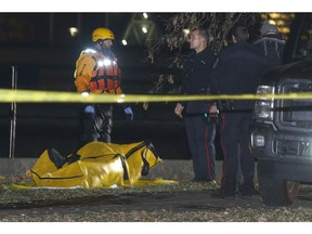 Ottawa police are investigating the discovery of a body that was pulled from the Rideau River near where it meets the Ottawa River in Ottawa Ontario Tuesday Nov 14, 2017. Fire and police crews responded to Sussex Drive and Stanley Avenue just after 4 p.m. Tuesday after bystanders reported seeing a person in the Rideau River, near the Union Bridge.  Tony Caldwell Tony Caldwell