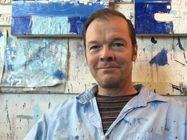"""Ivan Murphy: """"He's from Nova Scotia and studied at the Nova Scotia College of Art and Design. He did a series of large-scale oil installations to reflect his time deployed on the same ship in the Halifax Harbour as Eric Walker."""""""