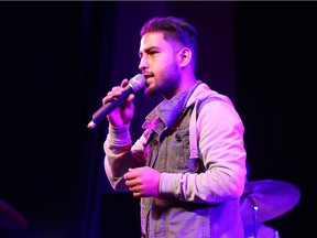 Mohammed Naser sings a band called Arabesque, an all-male band comprised of five refugees and two immigrants from Syria. They will perform at a Feb. 25 fundraising concert for Canadian Blood Services and the Ottawa Inuit Children's Centre.