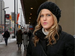 Stephanie McLeod says she was kicked by a complete stranger - who then recorded her shock on his phone - as she walked along Rideau Street.