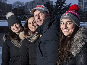 Vince Malette, with his family, from left, daughter Amanda, wife Joana and daughter Alyssa. He got the shocking diagnosis of Alzheimer's disease in 2014.