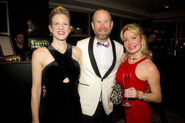 From left, Rachelle Levitsky and Bruno Racine of the Loft Urban Salon, a sponsor of the evening, and Liliane Cossette of Hilton Lac-Leamy.