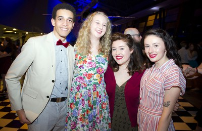 From left, Max Pare, Allie Lucas, Natalie Levesque and Oonagh Burns.