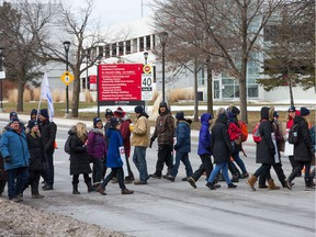 Carleton University support staff have gone on strike and are out on the picket lines for the foreseeable future with pensions being the major stumbling block. Photo by Wayne Cuddington/ Postmedia