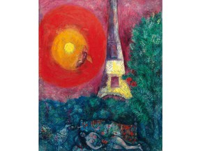 Marc Chagall's 'La Tour Eiffel (1929)'. National Gallery of Canada/Christie's