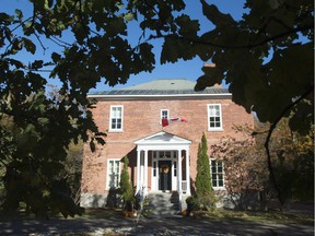 Rideau Cottage is seen on the grounds of Rideau Hall.