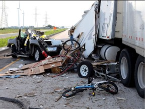 Twenty-five people have died in crashes involving transport trucks so far in 2018.