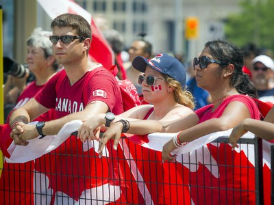 Canada Day celebrations took over the downtown core of Ottawa Sunday July 1, 2018  Ashley Fraser/Postmedia
