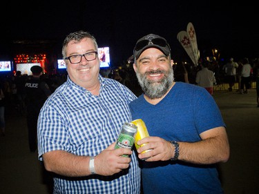 General manager of D'Arcy McGee's Irish Pub Jeff O'Reilly (left) with 10Fourteen co-owner Rod Castro (right).