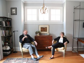 Andrew Cameron and Susan D'Antoni in their Glebe home.