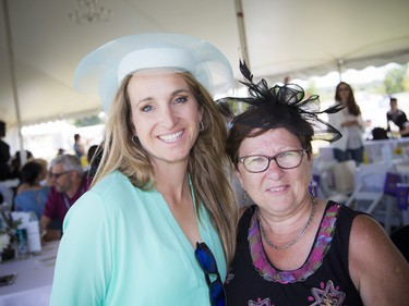 Karen Sparks, honorary chair of Polo in the Park, along with event chair Monique Warrack.