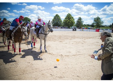 Eugenio Maria Curia, Ambassador of Argentina, threw out the first ball of the polo match.