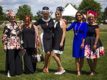 From left, Denise Blais, Marie Jose Poirier, Manja Mackley, Melanie Mason, Deborah Taylor and Leslie Hine were models wearing Three Wild Women's clothing during the fashion show.