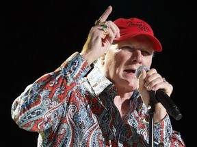 In this June 26, 2012, file photo, Mike Love performs with The Beach Boys at the Bank of America Pavilion in Boston.