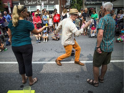 The FUSE Street Festival took over Westboro Saturday August 18, 2018 with music, buskers, shops and patios to stop and enjoy a meal at, to name a few. The festival is in support of Cornerstone Housing for Women and Westboro Region Food Bank shut down Richmond Road. Busker Chris Pilsworth entertained the crowd.