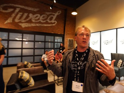 Canopy Growth CEO Bruce Linton in the new Tweed visitor centre in Smiths Falls on Thursday, Aug. 23, 2018.