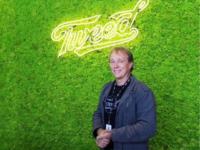 Canopy Growth CEO Bruce Linton stands in the new Tweed visitor centre in Smiths Falls.