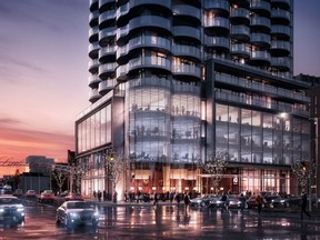 An artist's concept of the Claridge Icon, now under construction at the corner of Preston Street and Carling Avenue.
