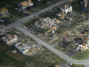 Damage from the tornado that hit Dunrobin.