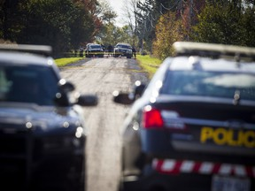 Ontario Provincial Police had a section of the 3rd Concession Road in South Glengarry blocked off for the homicide investigation of Emilie Maheu Sunday October 14, 2018.