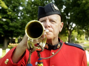 Charles Armstrong is a piper and bugler with the RCMP pipe band in Ottawa.