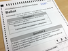 A sample ballot for the British Columbia electoral reform referendum.