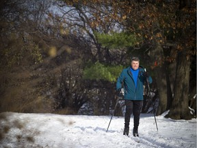 Dave Williams was out for a cross country ski along the Ottawa River parkway on Saturday. A lot of the snow was washed away by Sunday's rain, but there's more snow coming Monday and Tuesday.