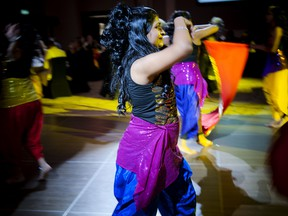Shefali's Bollywood Dance Pro put on a performance for the gala patrons.