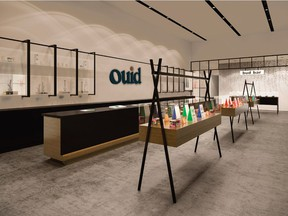 An artist's conception of the Ouid cannabis shops that an Ottawa-based  company hopes to open in the Glebe, Westboro and on Elgin Street.