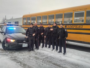 Ottawa police used a school bus to catch distracted drivers.