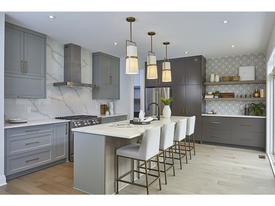 Taking neutrals to another level, Richcraft came up with a winning design for its Cedarbreeze single-family home.