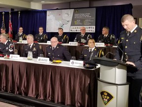 OPP at a press conference on child exploitation on Wednesday, Dec. 5.