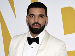 Drake, seen here in a 2017 file photo, spent a million-dollar budget for the video for God's Plan giving out money to less-fortunate folks in Miami.