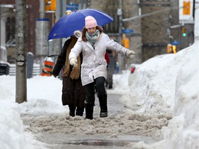 Sidewalks remain slushy, but sun's in the forecast for the weekend.