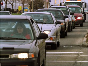 Commuters deal with traffic gridlock throughout Barrhaven.